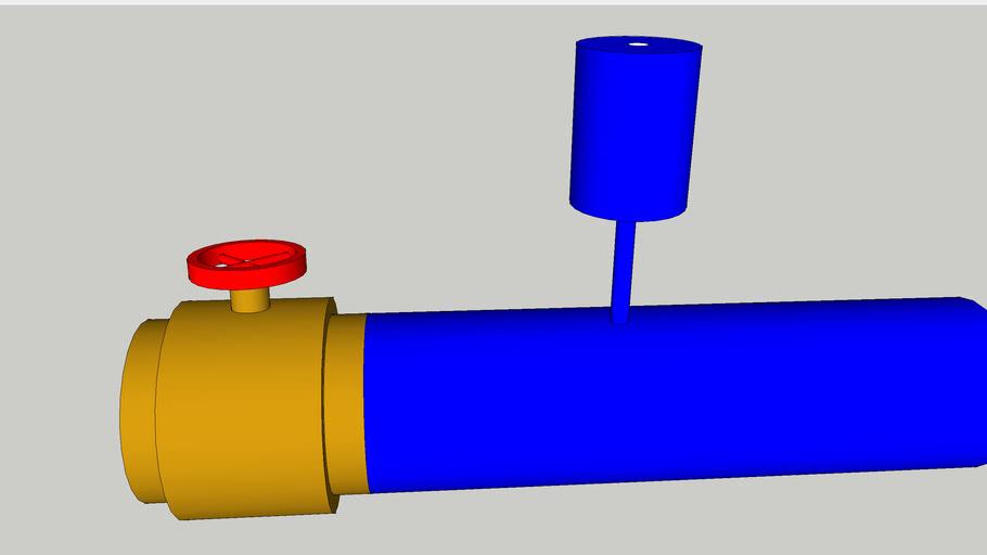 flow meter with valve