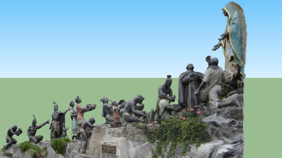 Modelo 3D das Imagens de Nossa Senhora de Guadalupe no Cabeço de Tepeyac