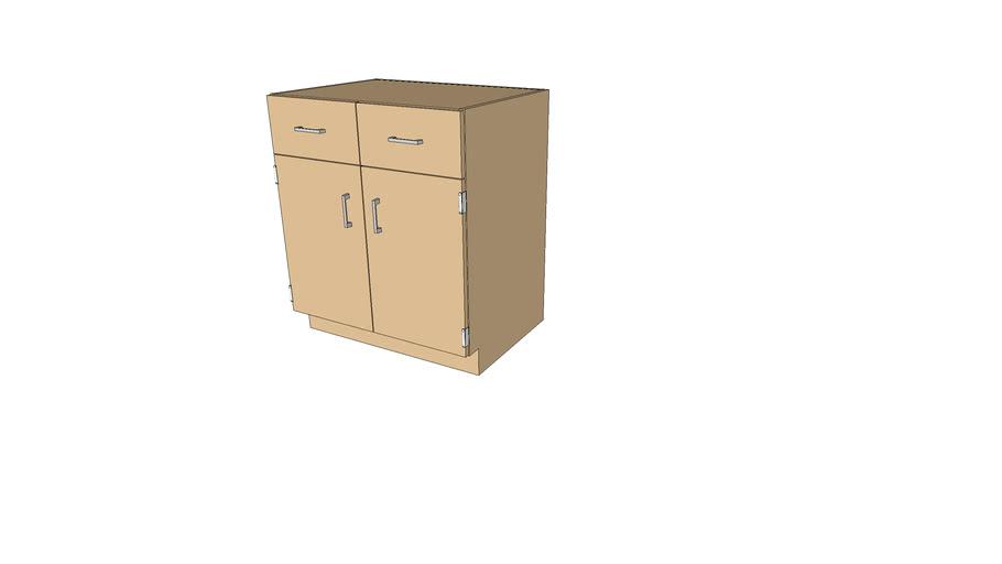 106-3022 Lab Base Cabinet - 2 Dr 2 Drw