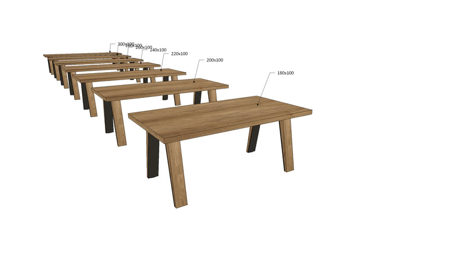 WA1Ax, Wagner Dining Table A Legs