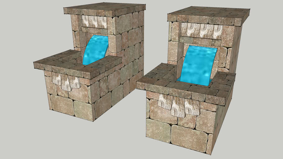 Wexford Fireplace Water Feature Pair