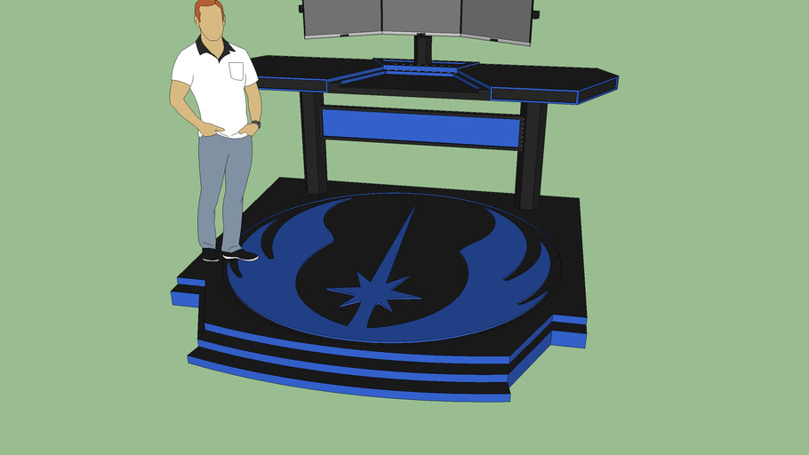 Jedi Themed Standing Desk Final