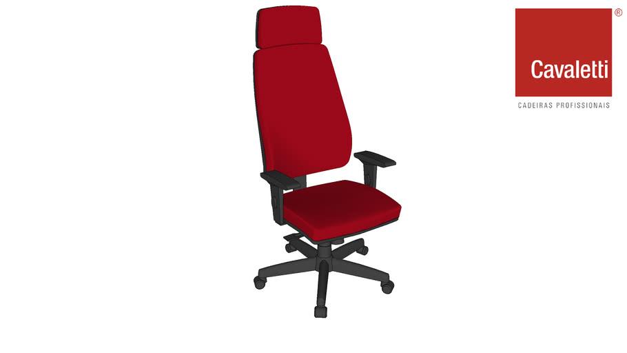 Cadeira Giratória com apoio de cabeça Pro 38001- Cavaletti