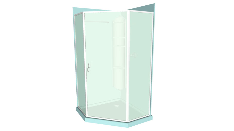 Glass Enclosed Shower 4ftx4ft - Detailed