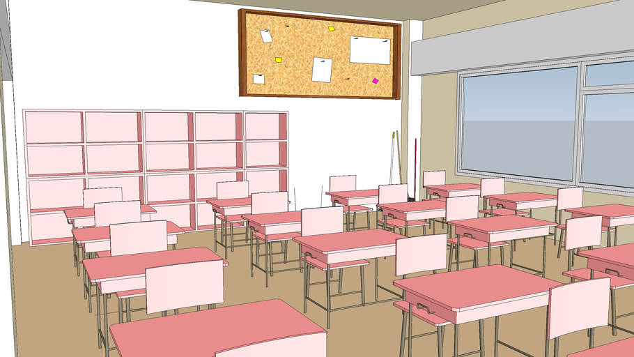 pink theme classroom