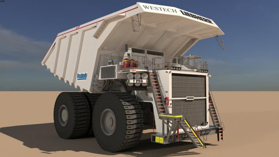 truck mining T296 coal