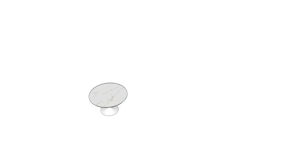 Mesa Saarinen redonda vidro impresso1