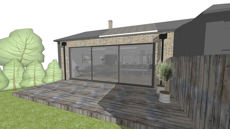 Single Storey Flat Roof Extension 3d Warehouse