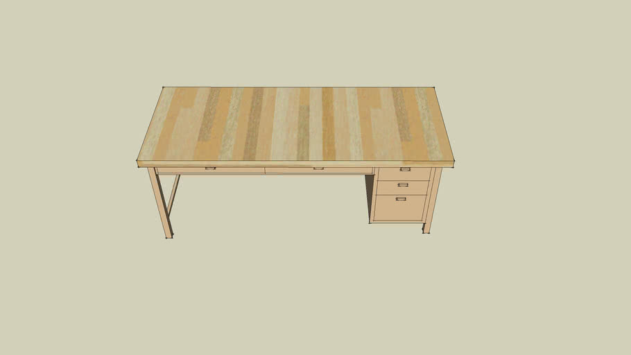 Two tone wooden desk