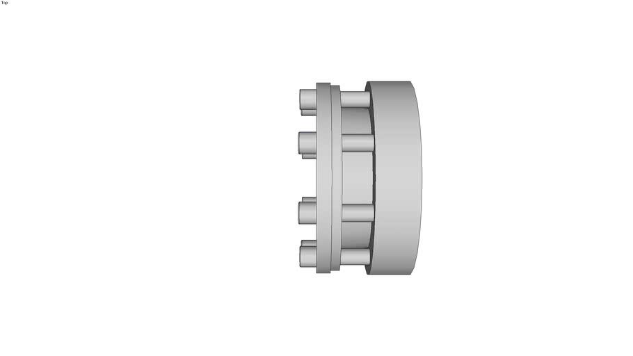 Moyeu expansible cylindrique autocentrant avec ou sans bague anti-recul