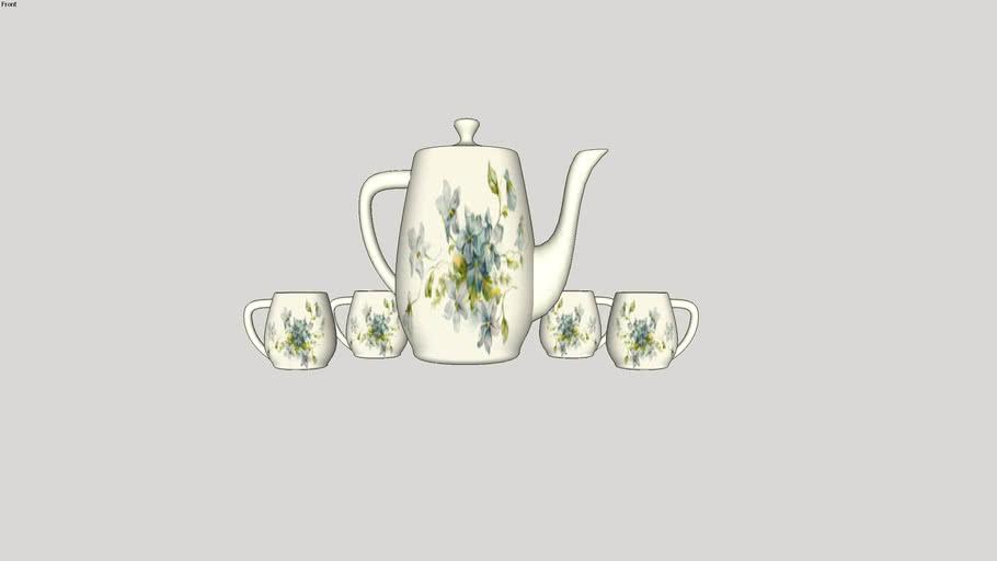 tea set, cup, tea, чайный сервиз, чашка, чайник