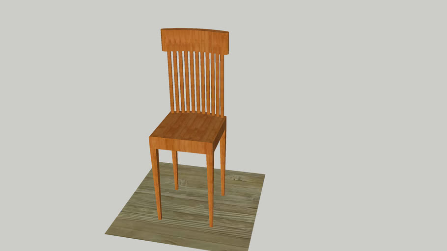 Chair Wood Model
