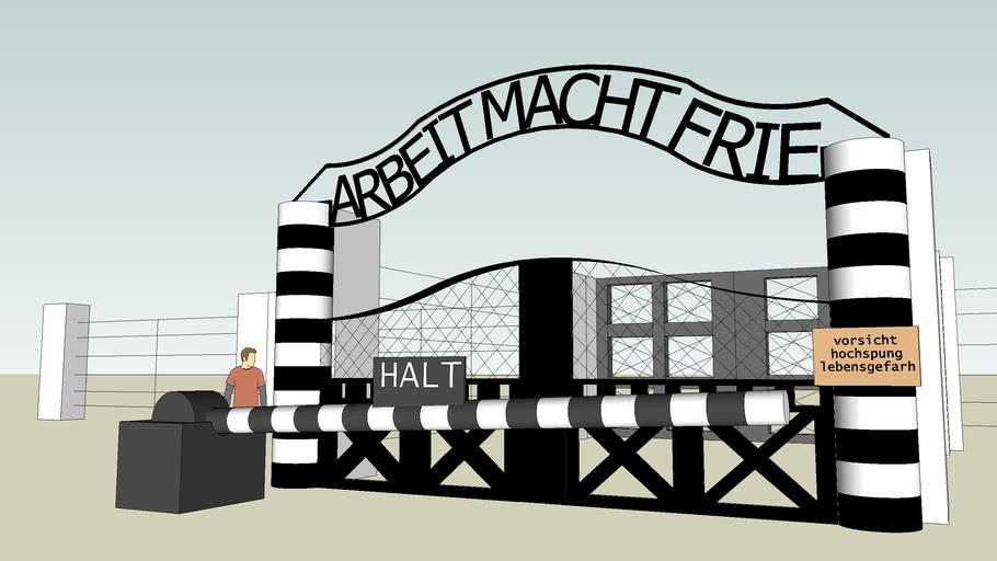 Auschwitz gate, arbeit macht frei, poland