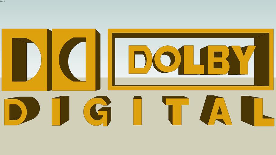 3D  DOLBY DIGITAL logo