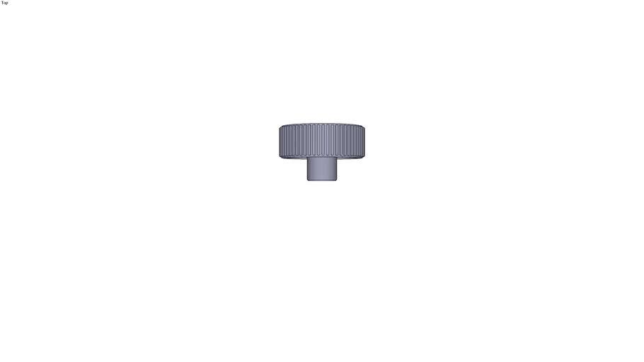 Knurled wheel form K - size 3 M12 ext. Ø 63 mm