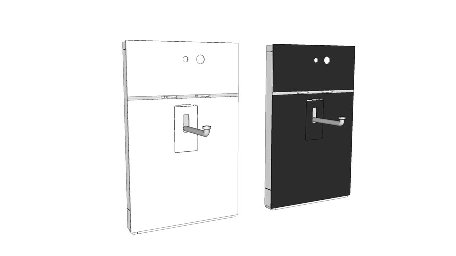 131.043 - Geberit Monolith sanitary module for washbasin, two-hole wall-mounted tap
