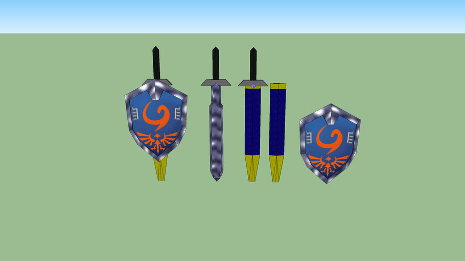 New age deky shield and hero's sword