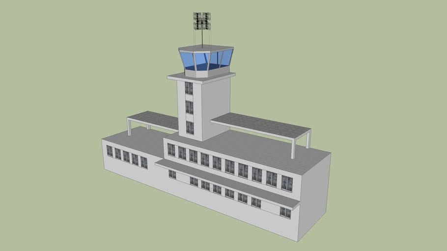 Zagreb Airport military control tower