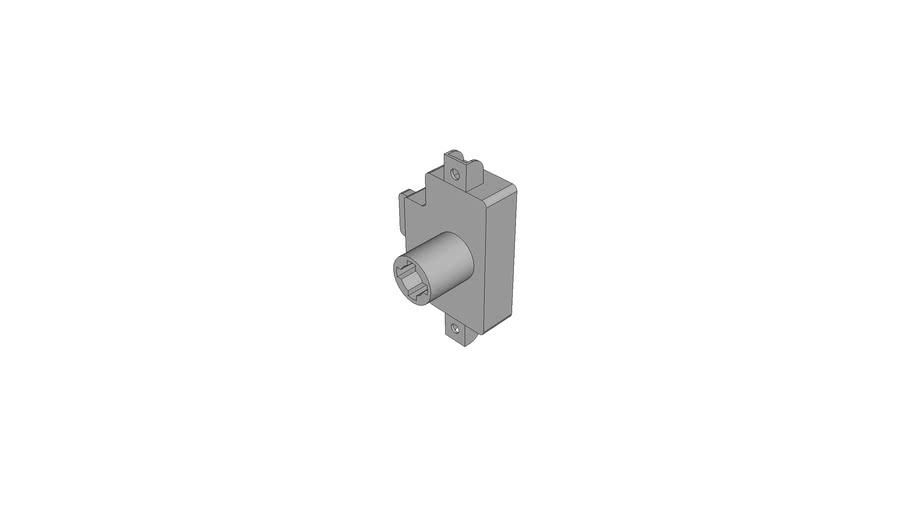 Cylinder espagnolette lock