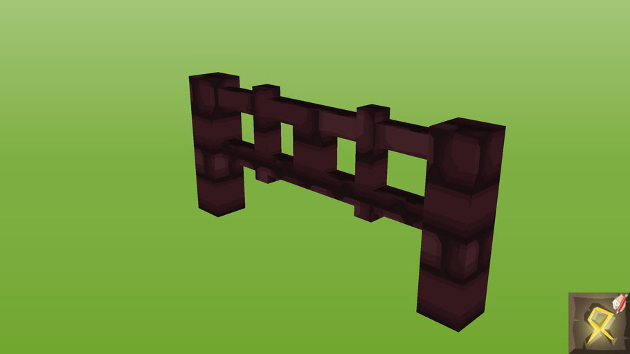 Fence Gate - Nether Brick1   3D Warehouse