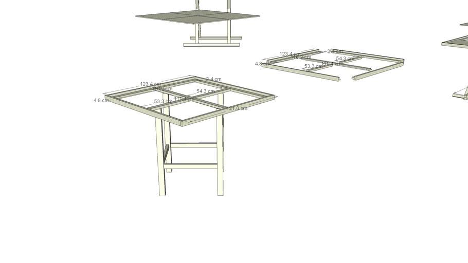 Tabletop-Tisch für 60x60cm Platten