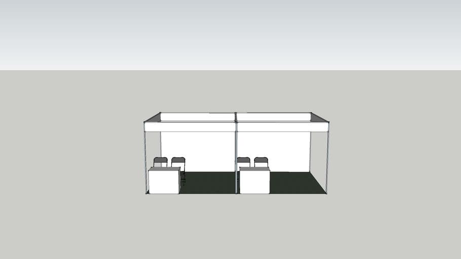 2 unit 10x10 standard shell booth scheme