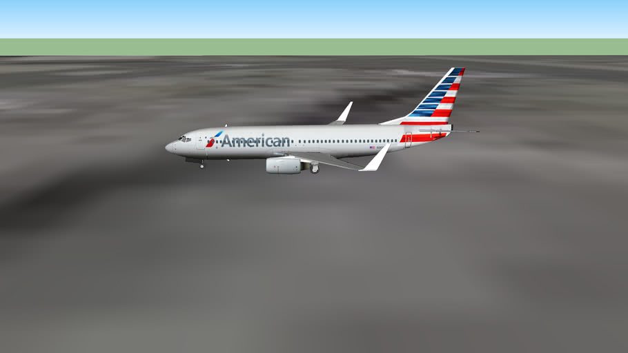 American Airlines (2013) 737-800 at the Gate At San Francisco Intl Airport