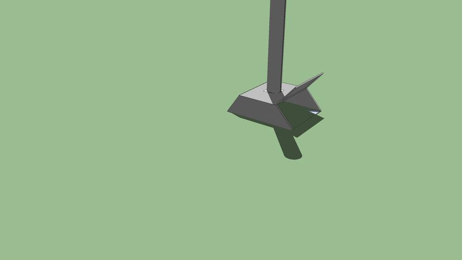 Simple metal broomstick