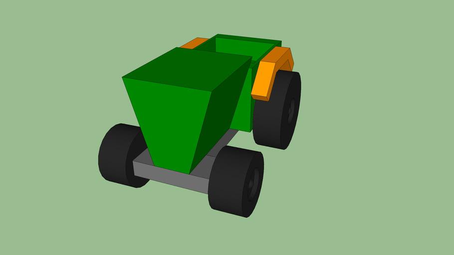houten tractor
