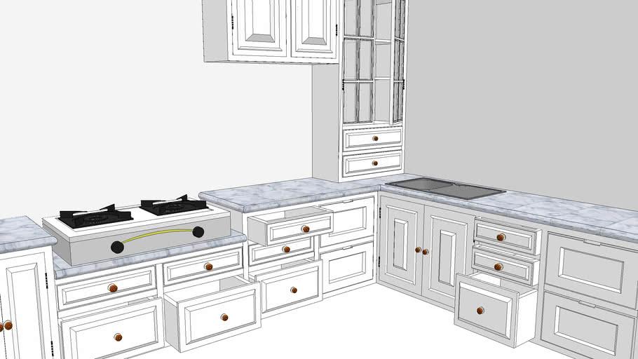 Kitchen Set Dapur Minimalis 3d Warehouse