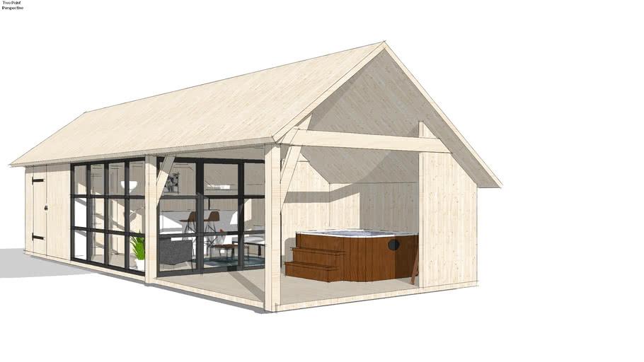 Tiny Barn House A01 - poolhouse