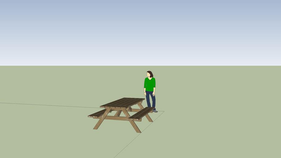 table de picnik en bois