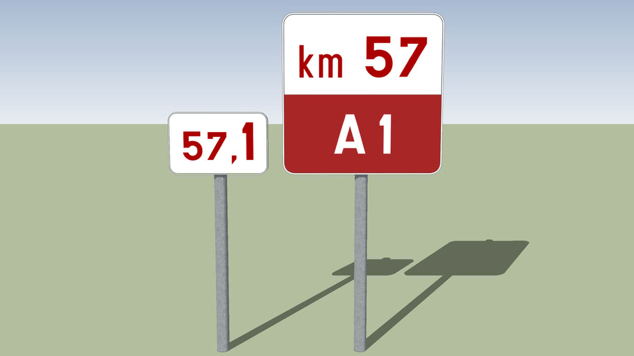 Belgische kilometerbordjes