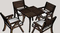 table chair courtyard