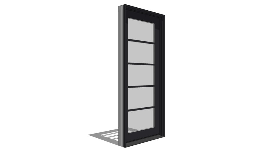 Architect Series Contemporary In-Swing Hinged Door - Fixed Panel