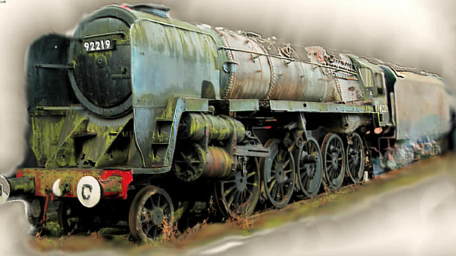 """""""- Locomotives - by Mylyn """"92219"""".. 9F HEAVY...To Be Restored..."""