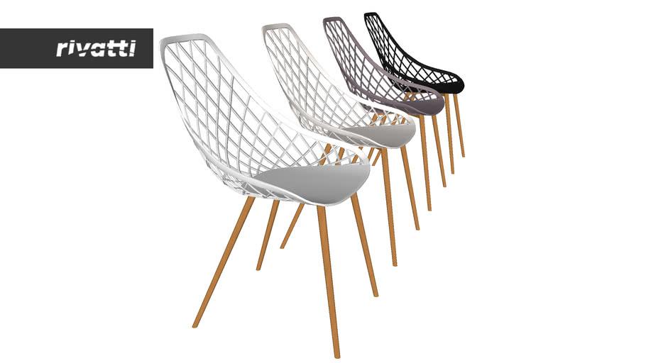 Conjunto 04 Cadeiras Cloe Base Aço Camurça Bege - Compre