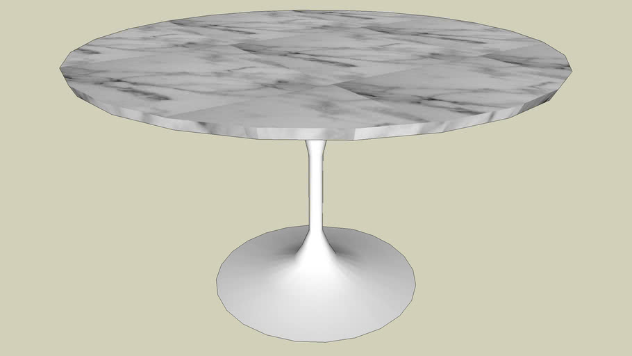 Saarinen 48 Round Marble Top Table, 48 Round Marble Table Top