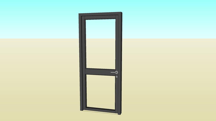 double panel glass door