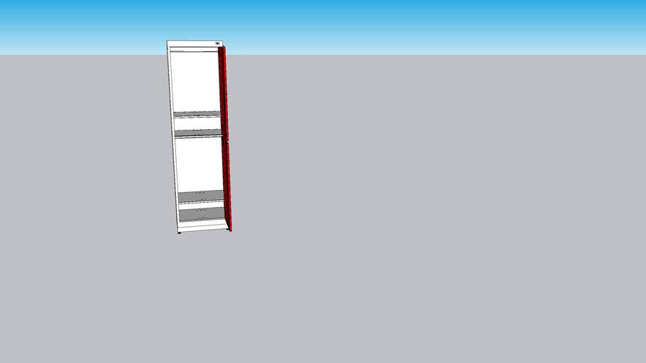 Biccateca - Armário com Compartimentos Amplos 2P (portas abertas)