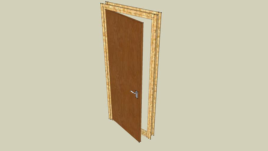 Doorframe + door
