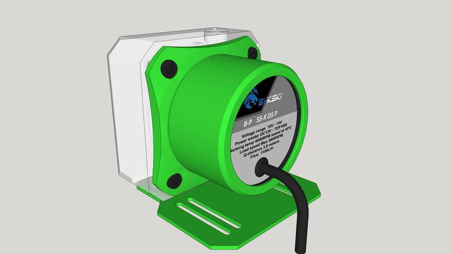 Bykski B-PMS5-NX bomba de água d5 1100lh - GREEN