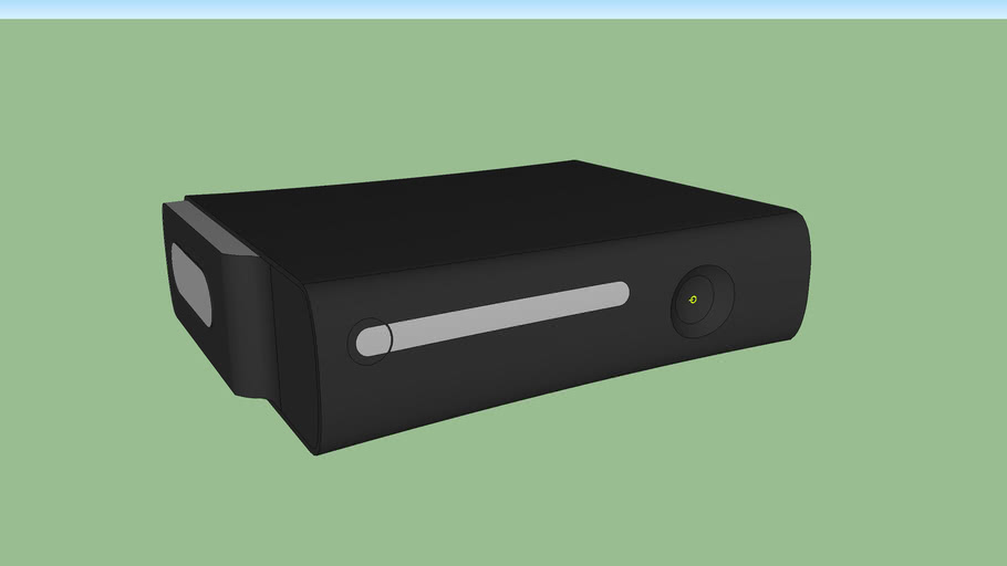 xbox 360 - to scale, inches, simplified