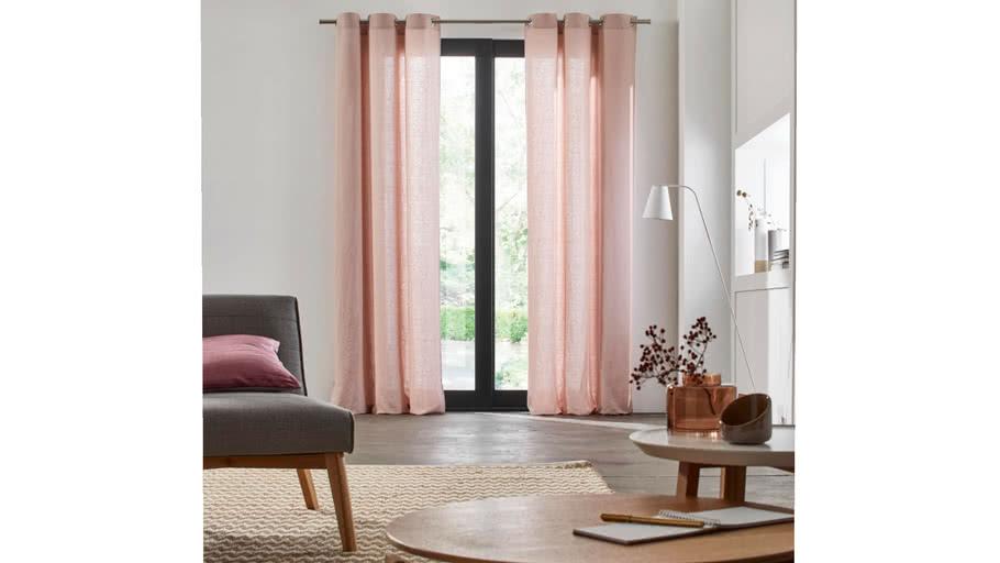 Eyelet Curtain CARLINA by Madura Pink / 109€ - 219€ TTC