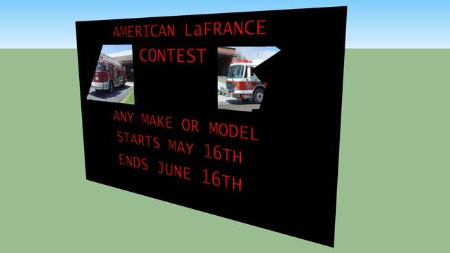 AMERICAN LAFRANCE FIRE TRUCK CONTEST