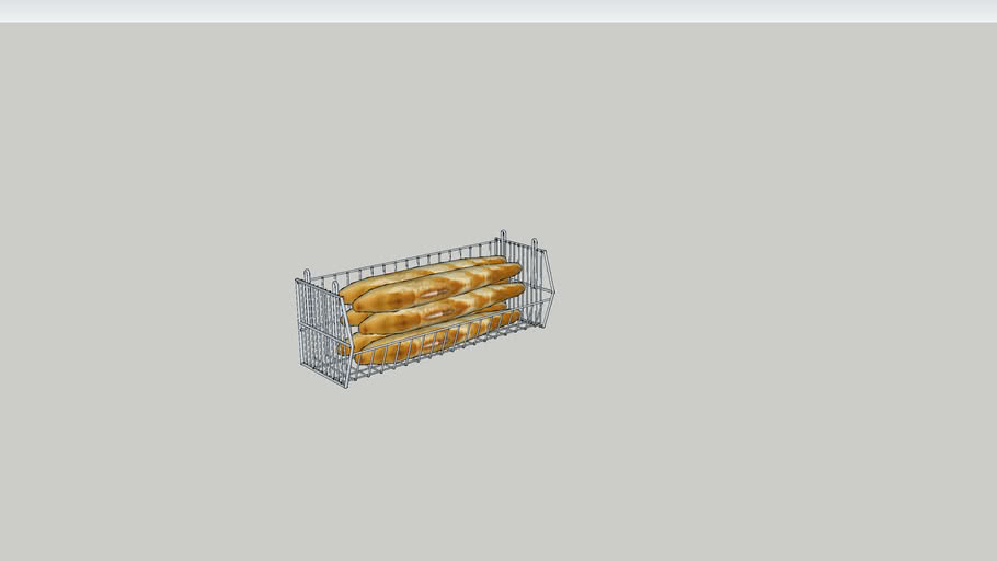 Wall mounted bread basket
