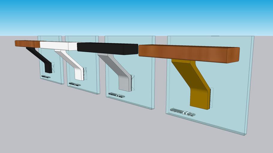 Glass Mounted Handrail Brackets by componance