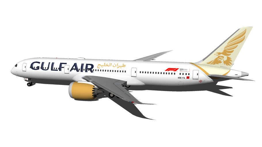 Gulf Air Boeing 787-9 Dreamliner A9C-FA (New Livery 2018) (Wi-Fi Dome)
