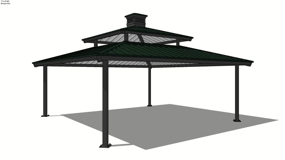 Square - 24' with Vented Top and Cupola