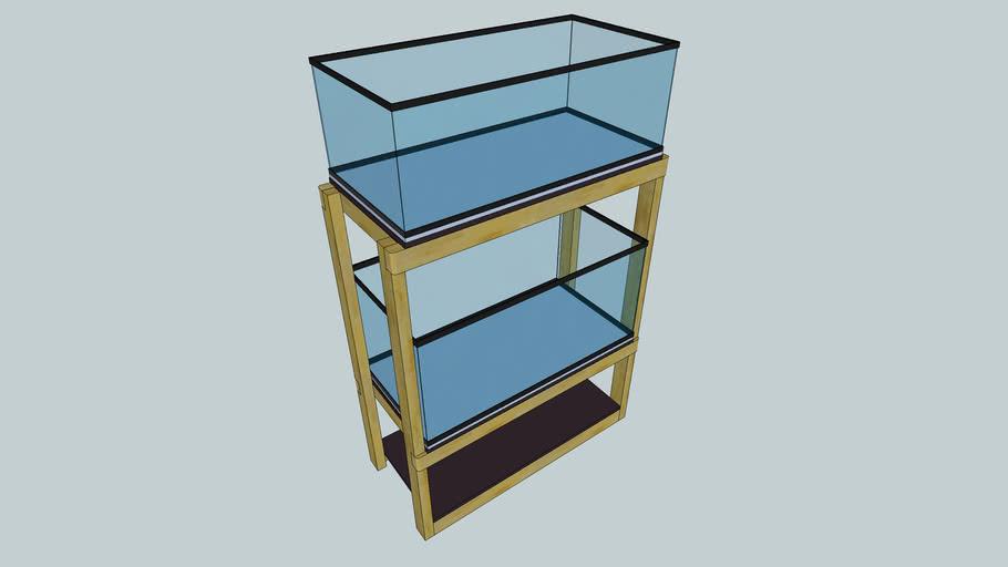 Dual Breeder Aquarium Stand